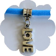 """Paracord Charms - """"Love"""" Charms, 550 Paracord, Bracelets, Silver, Leather, Stuff To Buy, Jewelry, Jewlery, Jewerly"""