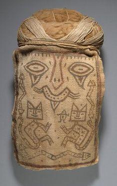 False Head for Burial Bundle or Mummy Mask, Paracas, Peru. Brooklyn Museum: Arts of the Americas: