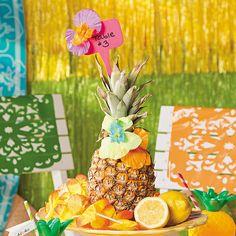 Pineapple Centerpiece Idea - OrientalTrading.com