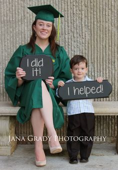 Single mom college graduation photo! Thank you Jana. :)