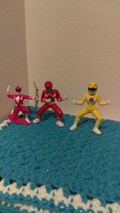 94' Mighty Morphin Power Rangers - 3 PVC Mini Figures - LOOSE - GUC #Bandai