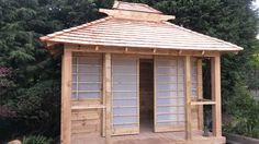 Japanese tea house idea on how the doors work. I think a good alternate is the t… Japanese tea house idea on how the doors work. I think a good alternate is the thin white plastic sheets… More durable than rice paper and still let's light in