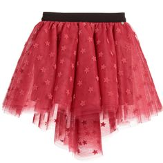 Microbe by Miss Grant Girls Dark Pink Tulle Skirt at Childrensalon.com