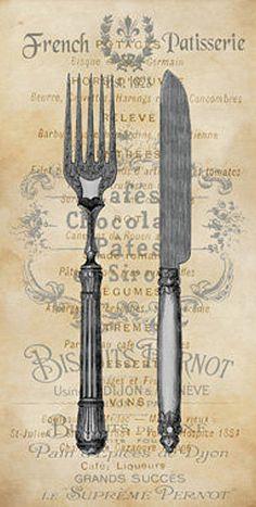 Deborah+Devellier:+Cuisine+II+Fertig-Bild+50x100+Wandbild+Küche+Essen