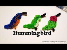 ▶ Hummingbird/Bird 2D Charm - How to Rainbow Loom - Animal Series - YouTube