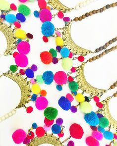 Lots of #pompoms are @savvyinc bound  #summervibes #necklaces #greenville #yeahthatgreenville #boutique #jewelry #handmade #summer #fashion #style #thursday #justintimefortheweekend #greenvillesc
