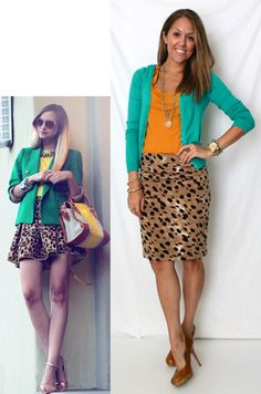 This would be better in navy and orange. Just sayin'. Love the leopard skirt though.  J's Everyday Fashion: Today's Everyday Fashion: Team Player
