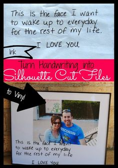 How to Cut Your Own Handwriting in Silhouette Studio! Turn love notes into special pieces #silhouette #silhouettestudio #silhouettetutorials #silhouetteideas #silhouetteamerica | Silhouette School www.silhouetteschool.blogspot.com