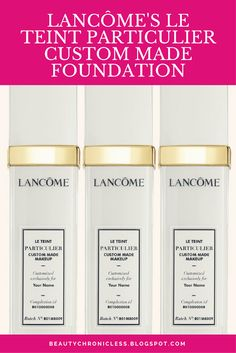 Lancôme's makes Custom made perfect foundation with Makeup Machine