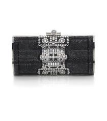 Barrymore Crystal Baguette by Judith Leiber-Very Classy Black