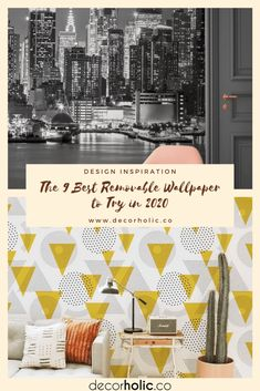 This removable wallpaper could be the most genius innovation in all home decor. From elegant floral prints to bold geometrics, these ideas prove that removable wallpaper design help to inspire a stress-free home refresh. #decorholic #wallpaperideas #removablewallpaper #wallpapertrends2020 #homedecor #decorinspiration