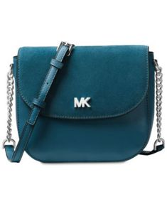 Michael Kors Half Dome Suede-Trim Leather Crossbody Handbags   Accessories  - Macy s c37ff97707e2