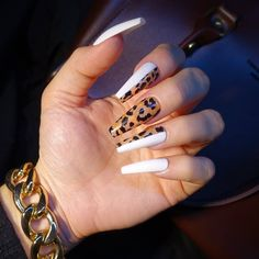 2019 Stunning Leopard Print & Snakeskin Pattern Nails Art Ideas - Page 6 of 7 - Vida Joven Aycrlic Nails, Hot Nails, Bling Nails, Swag Nails, Hair And Nails, Coffin Nails, Pink Coffin, Fabulous Nails, Gorgeous Nails