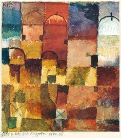 Afbeelding Paul Klee - Rote und weiße Kuppeln