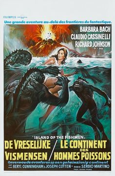 Island of the Fishmen. Dutch movie poster art.