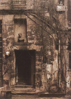 Vilem Kriz - Entrée d'une vieille maison, 1946