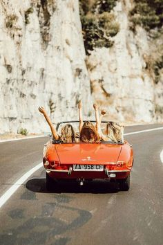 When you close your eyes, choose a spot on a map, and go on a spontaneous road trip with your besties. Because you only have one life. Photo via on her road trip in Italy.