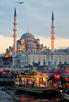 Istanbul at dusk, Turkey. One of my absolute favorite places I've ever been to. Istanbul is soooo magical and exotic. Places Around The World, Travel Around The World, Around The Worlds, Hagia Sophia, Places To Travel, Places To See, Travel Destinations, Turkey Destinations, Travel Tips