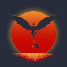 TOOTHLESS ON SUNSET T-Shirt $12 Toothless tee at Once Upon a Tee!