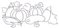 risco pintura em tecido legumes