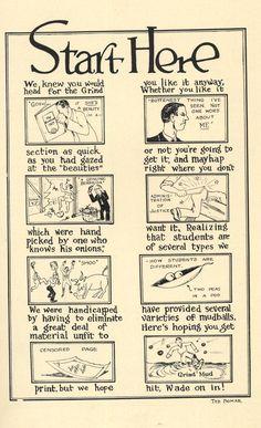Austin College- 1927 Chromascope- Comic Strip