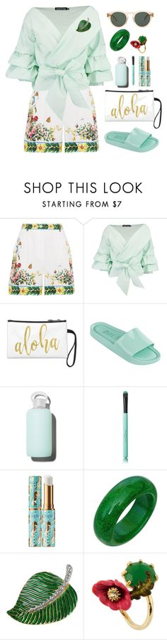 """Untitled #2078"" by ebramos on Polyvore featuring Dolce&Gabbana, Boohoo, bkr, tarte, Kenneth Jay Lane, Les Néréides and raen"