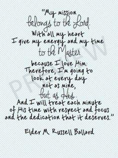 Missionary Quote LDS Mormon Ballard