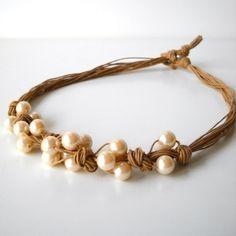 Kit n.2 Collana di corda e perle « silviazulianicorsi