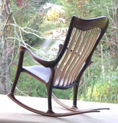 Hand-Crafted Wood Rocking Chair