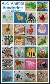An animal handprint for each letter of the alphabet! ABC Animal Handprints - art project for kids and a wonderful keepsake!ABC Animal Handprints - art project for kids and a wonderful keepsake! Alphabet Crafts, Letter A Crafts, Toddler Art, Toddler Crafts, Projects For Kids, Crafts For Kids, Footprint Crafts, Handprint Art, Hand Art