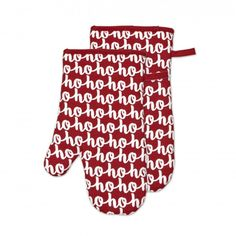 Easily maneuver around the kitchen protected, but in festive style with the Harman Christmas Diva Cotton Oven Mitts finished in white with 'Ho Ho Ho' appointed throughout. These cotton mitts provide sufficient heat protection when dealing with hot dishes, but still quite form-fitting and not oversized. Stay unscathed with these machine-washable & totally fun oven mitts!