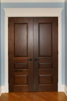 Traditional Door offers a wide range of quality and custom interior panel doors using high-quality wood. Discover our gallery of interior panel doors. Dark Doors, Brown Doors, The Doors, Entry Doors, Front Entry, Interior Panel Doors, Double Doors Interior, Brown Interior, French Interior