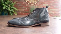 Vtg MENS MIKE KONOS WINGTIP CORDOVAN BOOTS SZ 13 ITALY BROUGES CHUKKA in Clothing, Shoes & Accessories, Men's Shoes, Boots | eBay