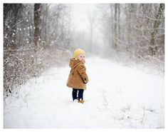 Millie's Magical One Year Photos in the Snow