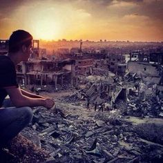 No its not a picture from an apocalyptic Hollywood blockbuster. It's Gaza, after it was bombed by Israel We Are The World, Our World, All Over The World, Around The Worlds, United We Stand, Holy Land, Middle East, Israel, The Unit