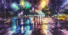Lin Ching Che Молодой тайваньский художник Лин Чинг Че предпочитает писать акварелью. А излюбленная тема в его картинах – дождливые городские пейзажи.  Лин Чинг Че (Lin Ching-Che) родился в 1987 году в Тайбэе. Рисовать начал в детстве. Его художественное образование началось в местной начальной школе, а продолжилось в Тайваньском национальном университете искусств.