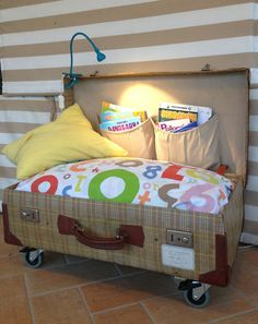 mommo design: IN A SUITCASE.....portable reading nook