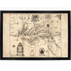 1670 Virginia and Maryland Map