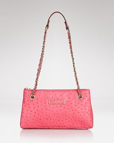 DNKY Shoulder Bag - Ostrich embossed with Adjustable Chain | Bloomingdale's