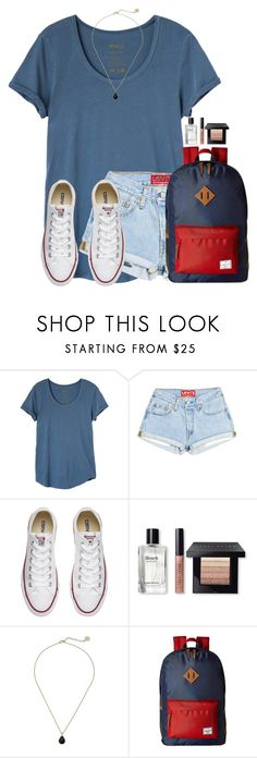 """""""Warm day today"""" by victoriaann34 on Polyvore featuring RVCA, Converse, Bobbi Brown Cosmetics, Kendra Scott and Herschel Supply Co."""