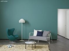 LADY Spring and Summer 2014 inspirasjonsbilde Room Colors, House Colors, Colours, Blue Pallets, Jotun Lady, Outdoor Sofa, Outdoor Decor, Organize Your Life, Dresser
