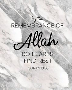 BY THE REMEMBERENCE OF ALLAH DO HEARTS FIND REST - QURAN 13:28    A gorgeous wall print that featured real marble texture and a beautiful reminder of a profound verse of our beloved book, the Quran! Makes a thoughtful gift or a statement piece for your home :) Would look gorgeous as part of a statement wall, or as a standalone piece!  Making a collage?  Take $5 off 4 prints using code COLLAGEIT4 at checkout :) Includes 2 and 3 piece sets…