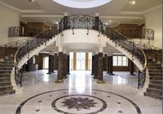 Updown Court - grand staircase inspired by Versace Double Staircase, Grand Staircase, Stairs, Staircase Design, Future House, My House, Palaces, Orlando, Stair Decor