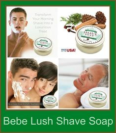 Bebe Lush Shave Soap - A Luxurious Alternative to Shaving Cream - The Stuff of Success Exp 6/23