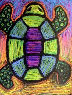 pastel art easy for kids - Google Search