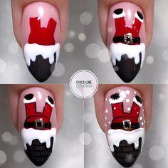 Nail Art Noel, Xmas Nail Art, Christmas Nail Art Designs, Holiday Nail Art, Xmas Nails, New Year's Nails, Winter Nail Art, Get Nails, Nail Art Diy