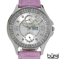 Luxstyle4u - BURGI BUR044PU Brand New Date Watch With Precious Stones - Genuine Diamonds and Crystals, $128.00 (http://www.luxstyle4u.com/burgi-bur044pu-brand-new-date-watch-with-precious-stones-genuine-diamonds-and-crystals/)