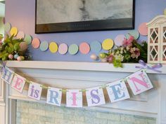 Easter decorations He is RISEN banner by anyoccasionbanners, $18.00