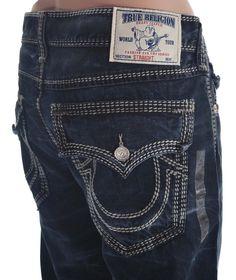 True Religion Mens Jeans Size 36 Straight Leg w/ Flaps Mega T Nat NWT $370 #TrueReligion #ClassicStraightLeg