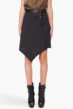 McQ Alexander McQueen - Wrap Pleated Skirt.